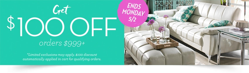 Get $100 off orders over $999! Ends Monday, 5/2.