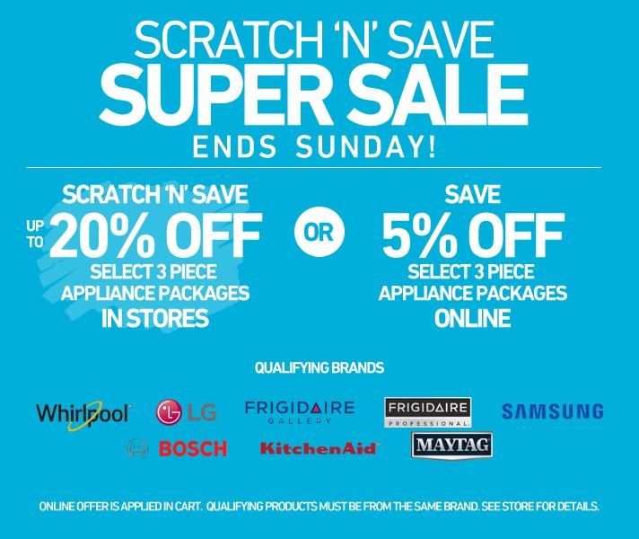 Scratch & Save Super Sale - Ends Sunday!