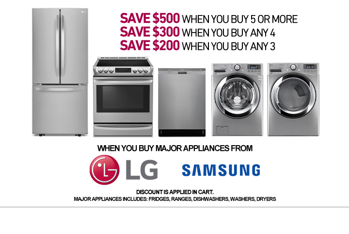 Save up to $500 on select Appliance Packages