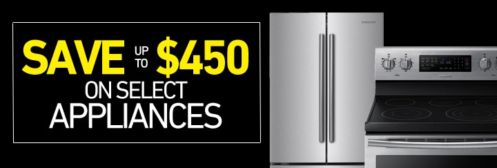 Save up to $450 on select Appliances