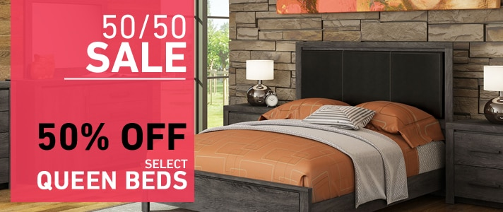50% OFF select Queen Beds