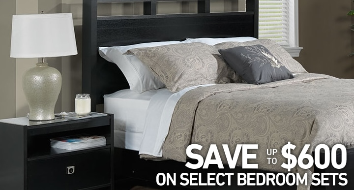 Save up to $600 on select Bedroom sets