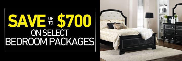 Save up $700 on select Bedroom Packages