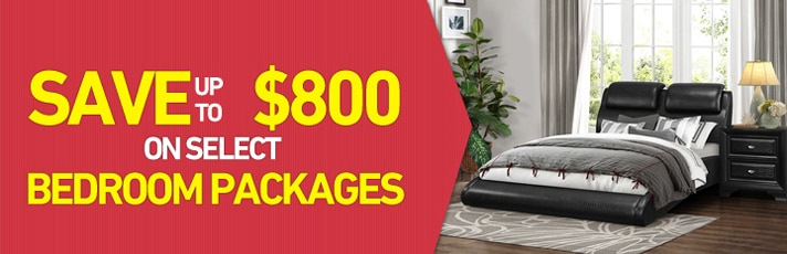 Save up to $800 on select Bedroom Packages