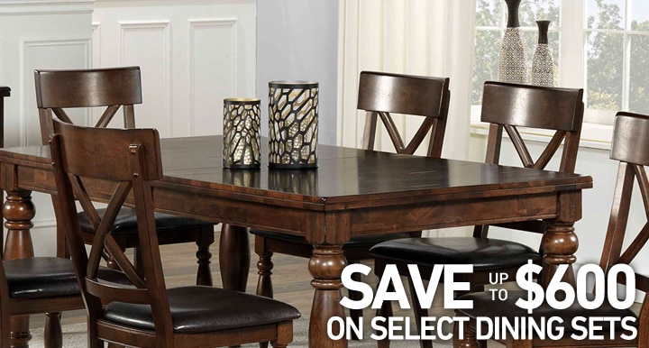 Save up to $600 on select Dining sets