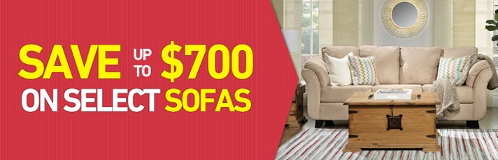 Save up to $700 on select Sofas