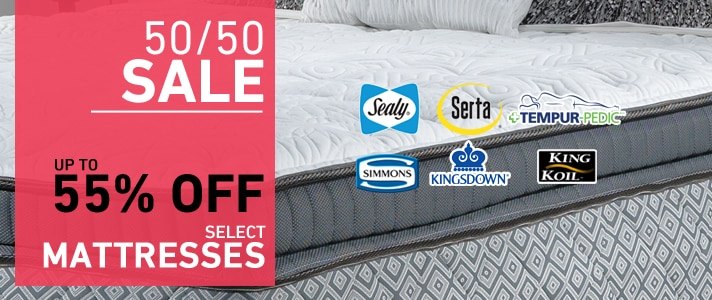 Up to 55% OFF select Mattresses