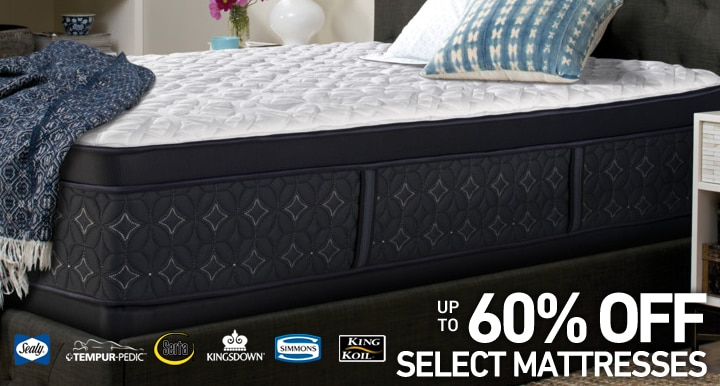 Up to 60% OFF on select Mattresses