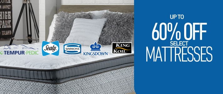Up to 60% OFF select Mattresses