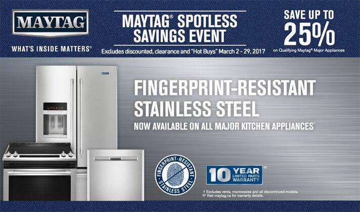 Maytag Spotless Savings Event