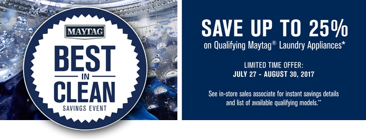 Maytag Limited Time Offers
