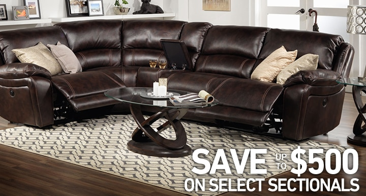 Save up to $500 on select Sectionals