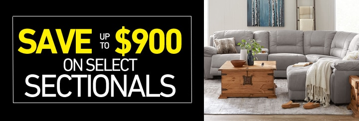 Save up to $900 on select Sectionals