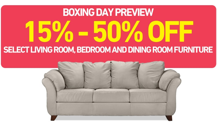15% - 50% OFF select living room, bedroom and dining room furniture