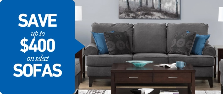 Save up to $400 on select Sofas