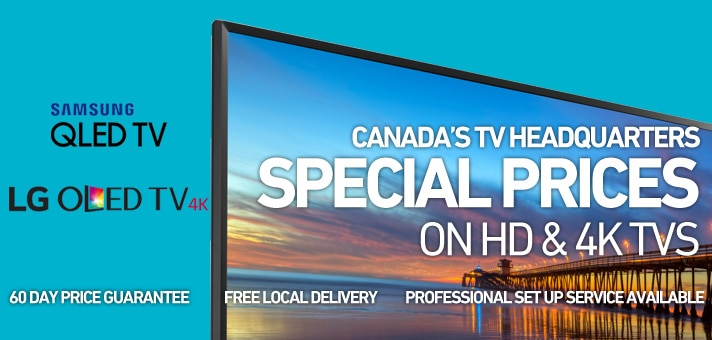 Special Prices  on HD & 4K TVs